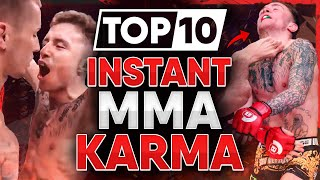 10 MMA Fighters who got INSTANT KARMA