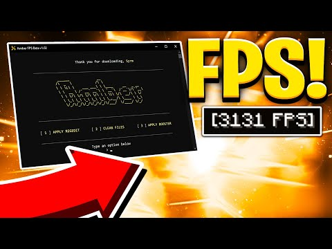 AMBER INSANE BOOSTING FPS PROGRAM!   +3000 FPS!   AMBER FPS RELEASE!