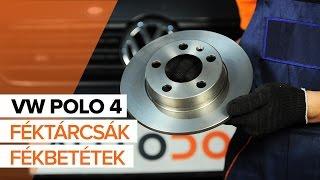 VW POLO 4 Hátsó féktárcsák és Hátsó fékbetétek csere ÚTMUTATÓ | AUTODOC