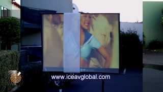 Weltweit Hellsten Tageszeit Projektions-Schirm im Freien Demonstration von ICE-AV