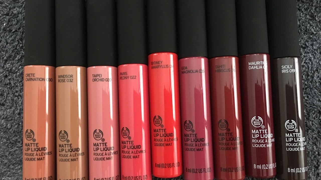 The Body Shop Matte Liquid Lipstick Swatches Youtube