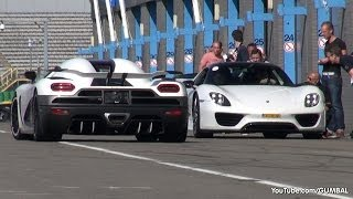 Koenigsegg Agera R vs McLaren 650S Spider vs Porsche 918 Spyder