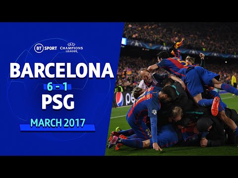 Barcelona 6-1 Paris Saint-Germain (agg: 6-5) | Champions League Highlights