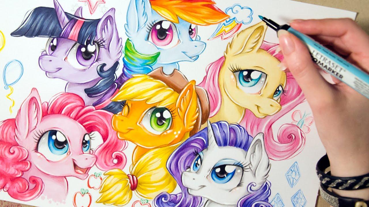 Cute Little Sister Wallpaper Speed Drawing Mlp Mane 6 Short Version My Little Pony