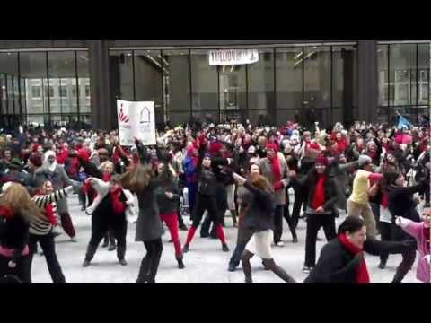 One Billion Rising - Break The Chain - Flash Mob at Daley Plaza in Chicago (HD)