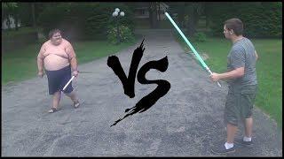 FAT GUY VS PADAWAN !