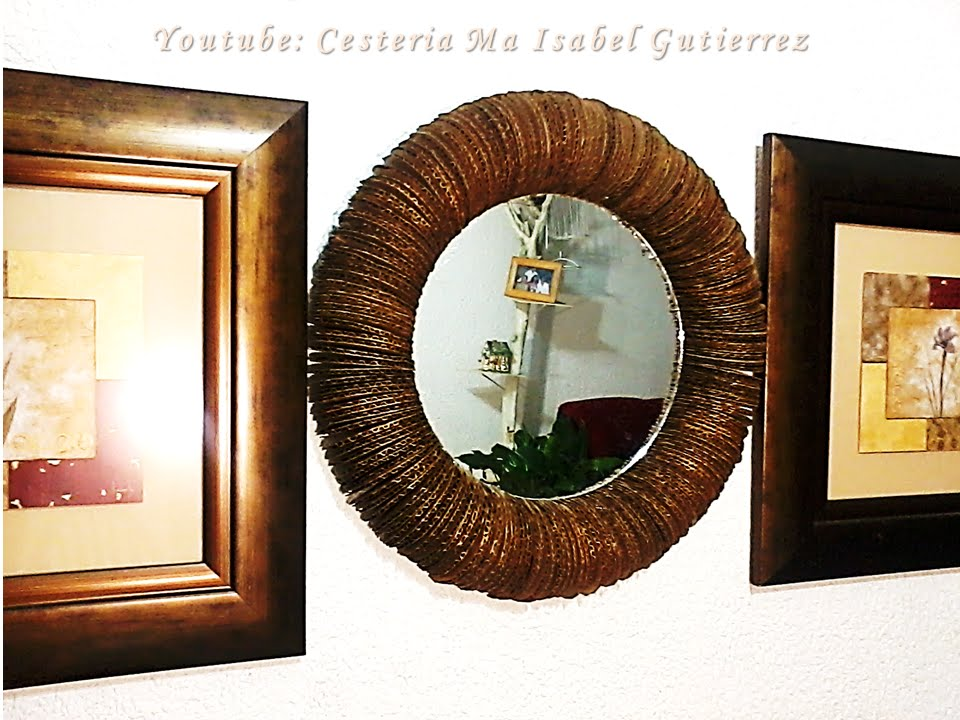 Como hacer un marco para espejo. DIY. How to make a frame for mirror ...