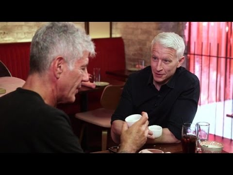 Anderson Cooper drinks first Martini with Anthony Bourdain