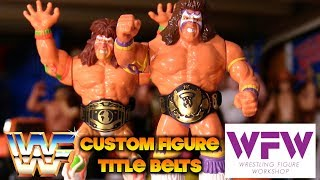 Custom WWF Figure Belts by Wrestling Figure Workshop (Vintage Hasbro Style)