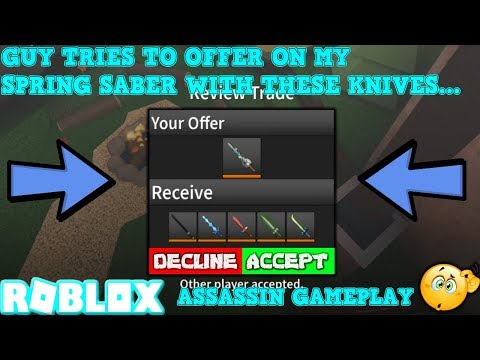 Trades For Roblox Assassin Trying To Find Trades In Roblox Assassin Got 2 Free Infernos So Far No One Wants To Trade Youtube