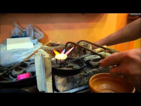 Переплавка металла с лигатурой  Изготовление золота 750й пробы