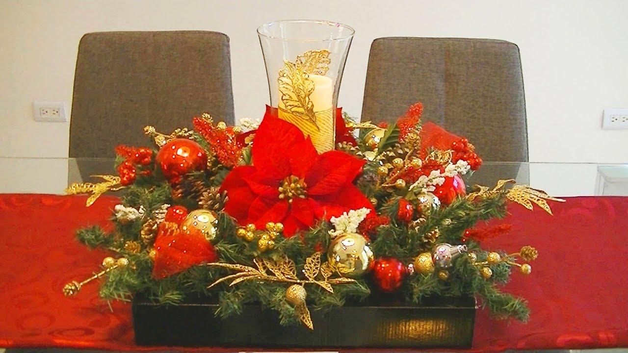 C mo hacer un gran centro de mesa navide o doovi - Como hacer un centro de mesa navideno ...