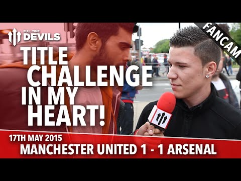 Title Challenge in My Heart! - Manchester United 1-1 Arsenal - FANCAM - 동영상