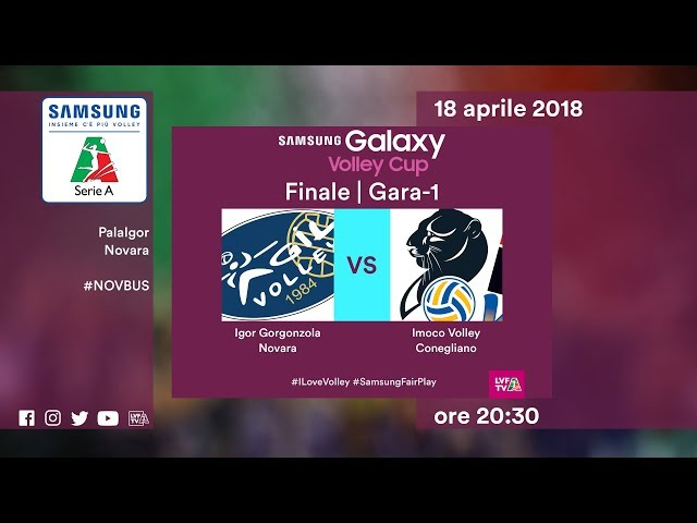 Gara1 Novara - Conegliano | Finale | Highlights | Samsung Galaxy Volley Cup