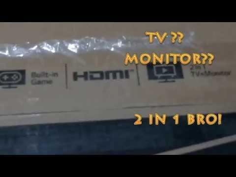 UNBOXING TV MONITOR LG 24MT48AF