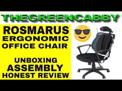 rosmarus-ergonomic-office-chair-unboxing-assembly-honest-review---swivel-gaming-computer-desk-chair