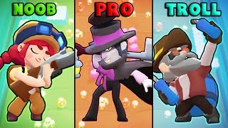 NOOB vs PRO vs TROLL - NEW Brawl Stars Funny Moments & Fails #32