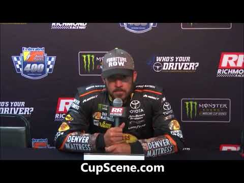 NASCAR at Richmond Raceway, Sept. 2017: Martin Truex Jr. post race