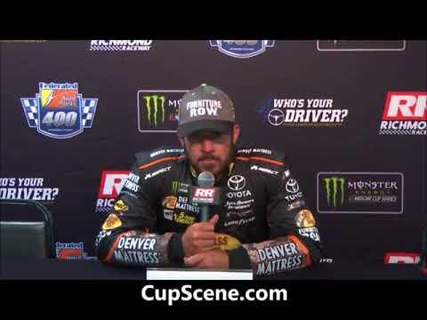NASCAR at Richmond Raceway, Sept. 2017: Martin Truex Jr. post race