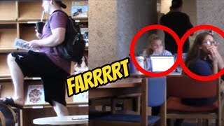 WET FART PRANK IN THE LIBRARY!! (Feat. Awkward Conversations!!) Sharter Saturdays S02•E10
