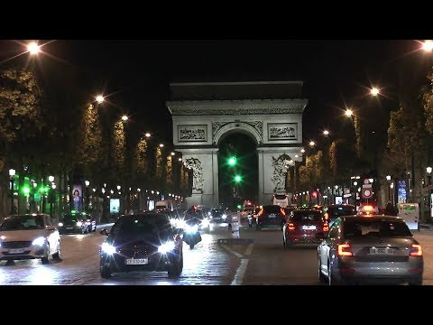 Paris France Champs Élysées Night