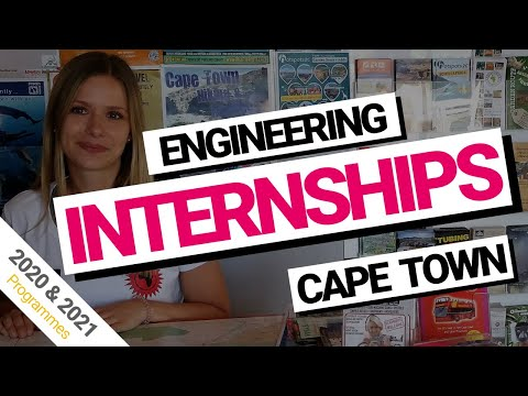 Engineering internships Cape Town, South Africa (2018 & 2019)
