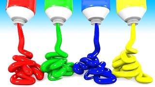 Teach Colors With Colorful Toothpastes Learning Videos for kids thumbnail