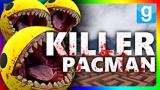 KILLER PACMAN RETURNS?!?! | Gmod Horror Maze (KILLER PACMAN CHALLENGE)