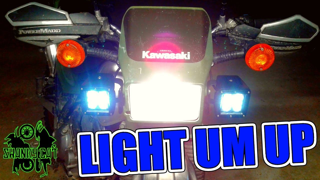 How To Wire Led Lights High Beam Switch Youtube Atv Light Bar Relay Diagram And Three