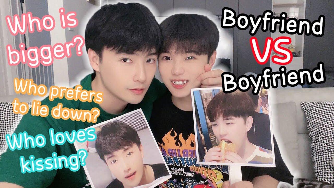 Boyfriend VS Boyfriend | Who Loves Kissing? Who Is Bigger?🔥🔥[Gay Couple Lucas&Kibo BL]