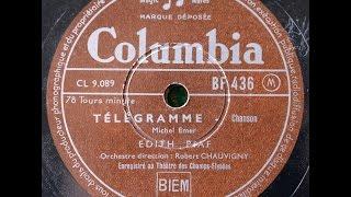 Download Video Télégramme / Edith Piaf MP3 3GP MP4