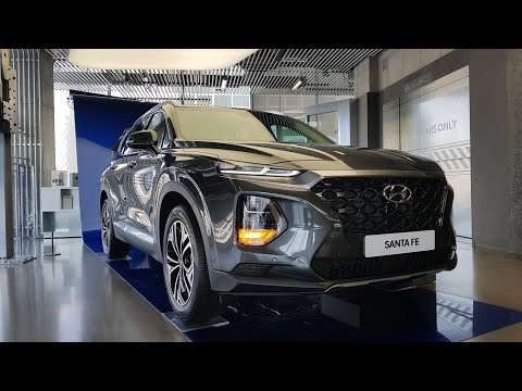 2019 Hyundai Santa Fe Exterior Interior Walk around Tour