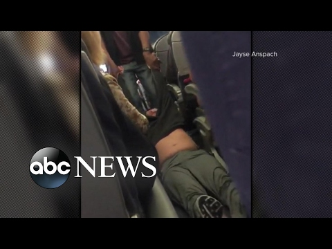 Thumbnail: United Airlines passenger apparently dragged off flight after refusing to give up seat