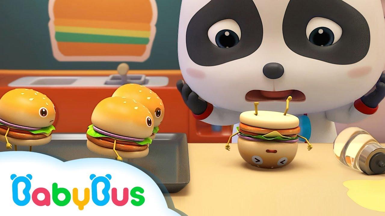 Bayi Panda & Lima Hamburger | Lagu Anak Tentang Makanan | Lagu Anak-anak | BabyBus Bahasa Indonesia