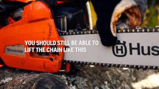 How to tension the chainsaw chain