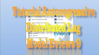 tutorial autoregressive distributed lag model eviews 9