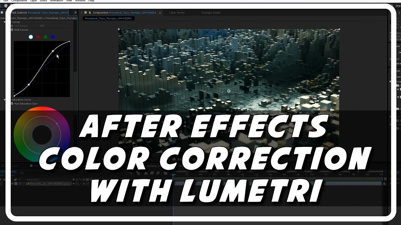 After Effects Color Correction using Lumetri (Psynaps Tutorial plus  Timelaps Video)