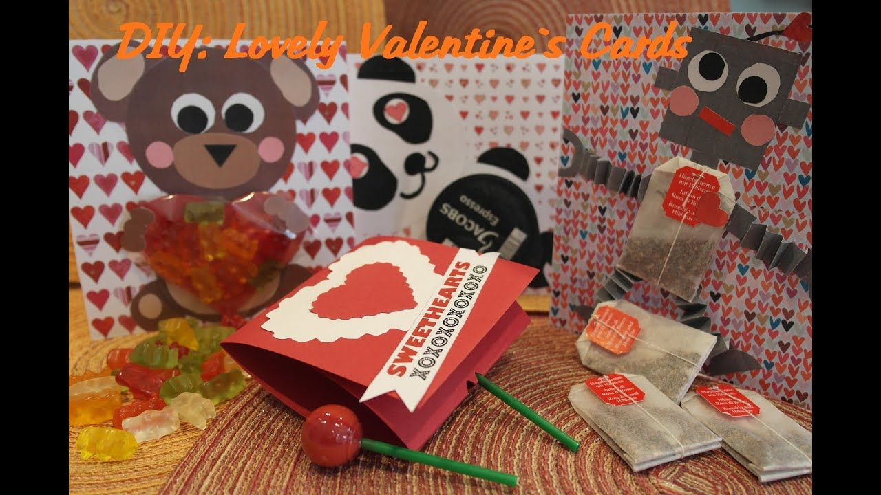 How to make Valentine`s Day Cards! Süße Valentinskarten selber ...