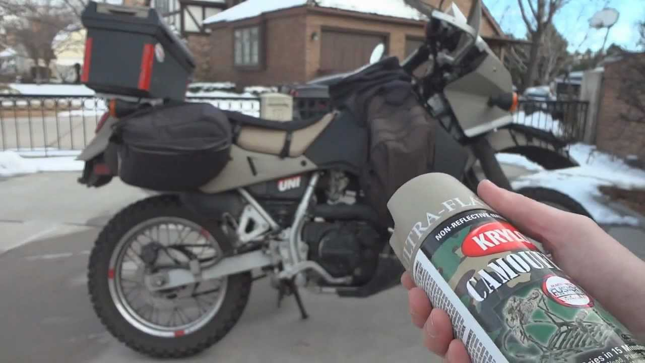 o#o how to spray paint a klr 650 with krylon fusion and truck bed