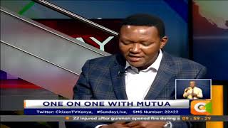 One on One With Dr  Alfred Mutua #SundayLive  (Part 1)