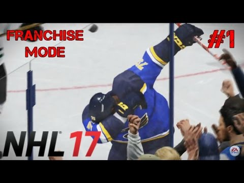 NHL 17 Franchise Mode #1 - WAFFLEBOARDED!