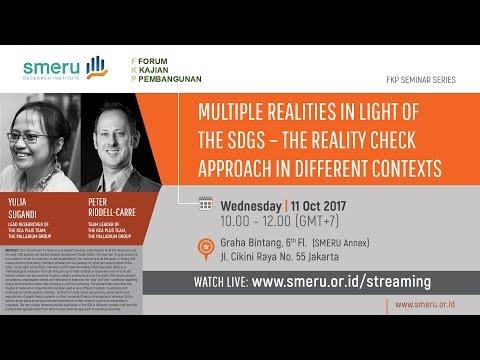 FKP Seminar 11/10/2017 - Multiple Realities in Light of the SDGs