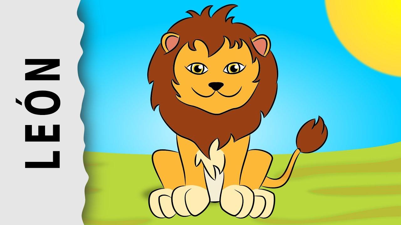 Leon Animal Dibujo. Top Conjunto De Dibujos Animados