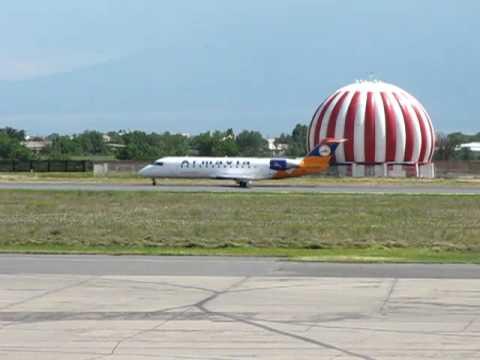 ARMAVIA  CRJ100 LANDED AT YEREVAN ZVARTNOTS AIRPORT