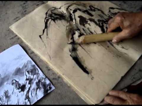 Calame Bamboo Reed Pens Demo by Master Zhou Xueyu