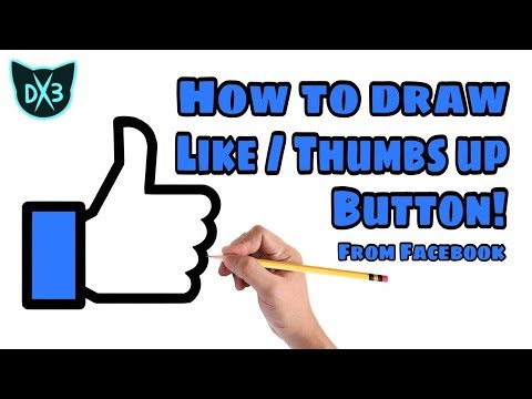 How To Draw Facebook Like/ Thumbs Up Button!