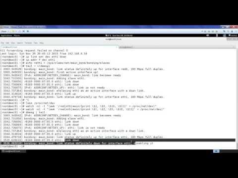 Linux: basic bonding setup via sysfs (round robin, active-backup)