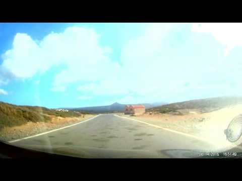 On the road from Palekastro to Monastery Toplou. Sitia Crete