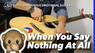 When You Say Nothing at All Female Key Instrumental guitar karaoke cover version with lyrics