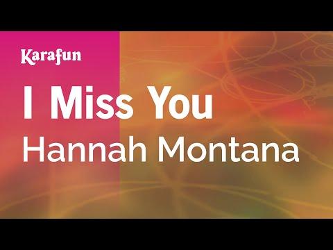 Karaoke I Miss You - Hannah Montana *
